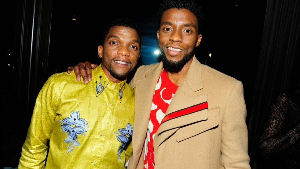 "Kevin Boseman and Chadwick Boseman attend The Cinema Society with Ravage Wines & Synchrony host the after party for Marvel Studios' ""Black Panther"" at The Skylark on February 13, 2018 in New York City."