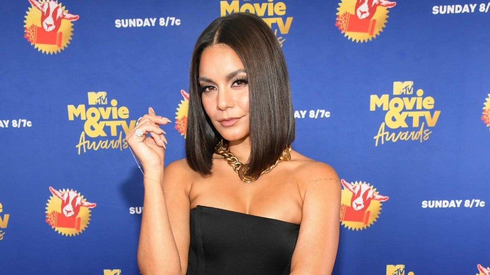 : In this image released on December 6, Vanessa Hudgens attends the 2020 MTV Movie & TV Awards: Greatest Of All Time broadcast on December 6, 2020