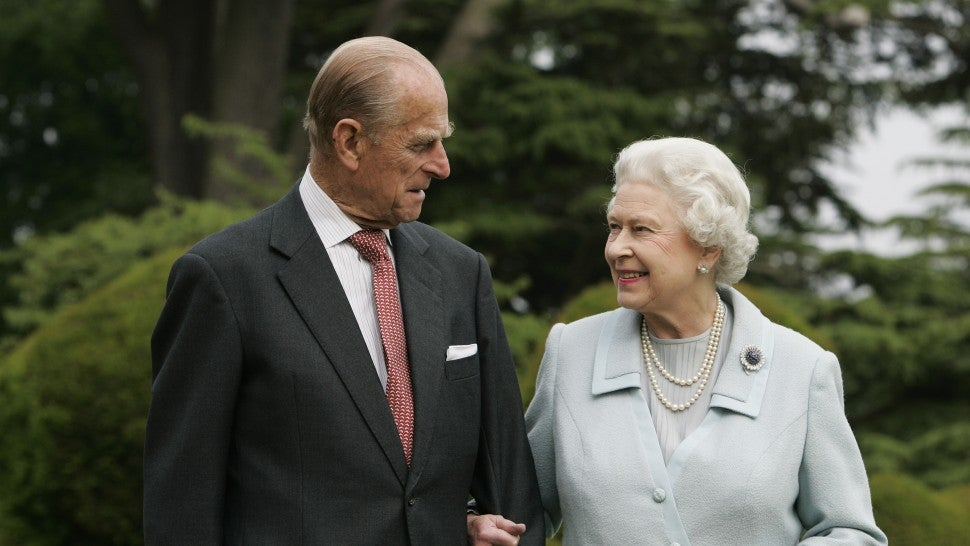 In this image, made available November 18, 2007, HM The Queen Elizabeth II and Prince Philip, The Duke of Edinburgh re-visit Broadlands, to mark their Diamond Wedding Anniversary on November 20. The royals spent their wedding night at Broadlands in Hampshire in November 1947, the former home of Prince Philip's uncle, Earl Mountbatten