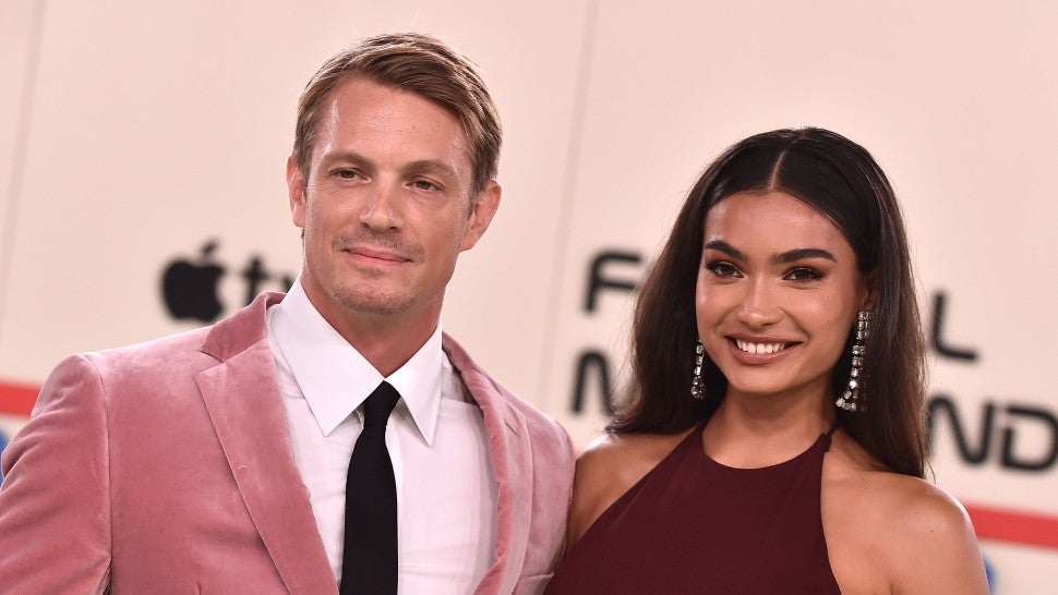 "US-Swedish actor Joel Kinnaman and Swedish model Kelly Gale attend the premiere of AppleTV+'s ""For All Mankind"" in Los Angeles on October 15, 2019."
