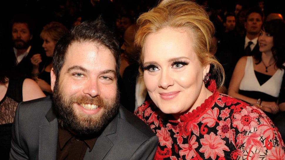 Adele (R) and Simon Konecki attend the 55th Annual GRAMMY Awards at STAPLES Center on February 10, 2013 in Los Angeles, California.