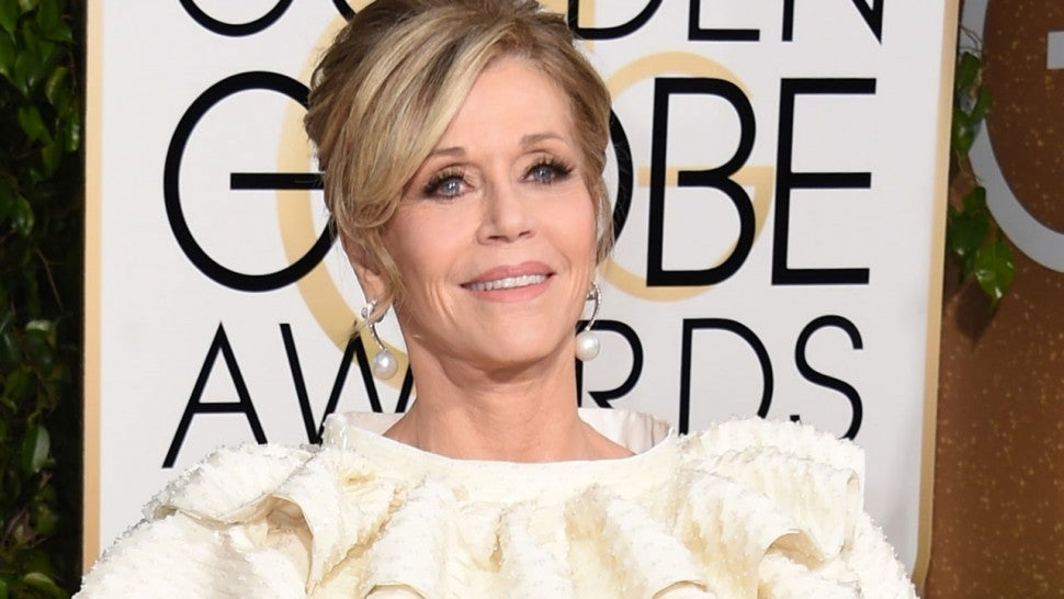 Jane Fonda at the the 73nd annual Golden Globe Awards