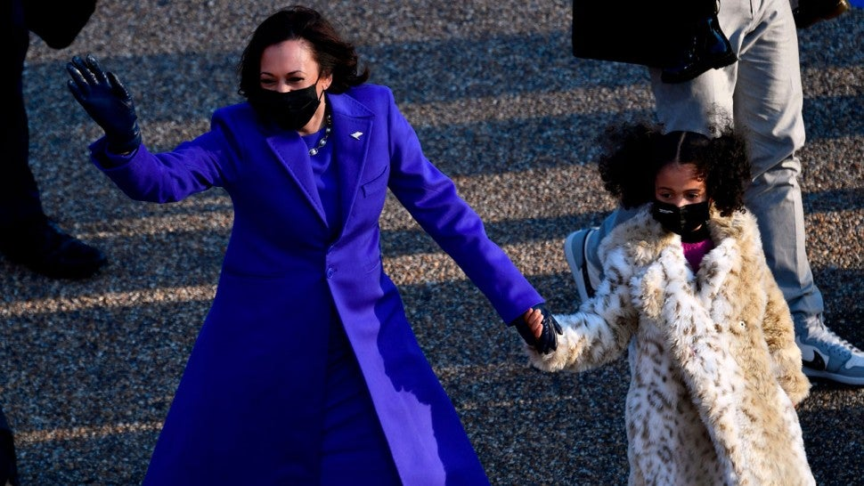 Vice President Kamala Harris and great-niece at the Inauguration