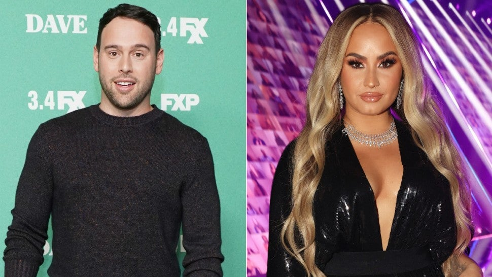 Scooter Braun and Demi Lovato