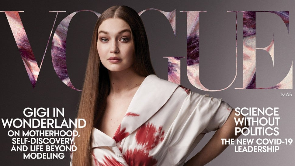Gigi Hadid covers Vogue's March 2021 issue.