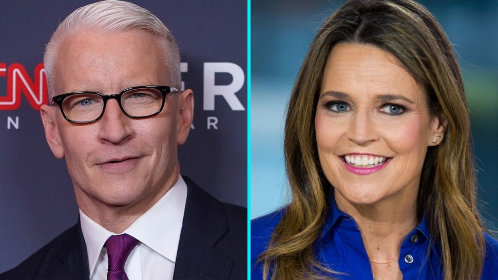 Anderson Cooper and Savannah Guthrie