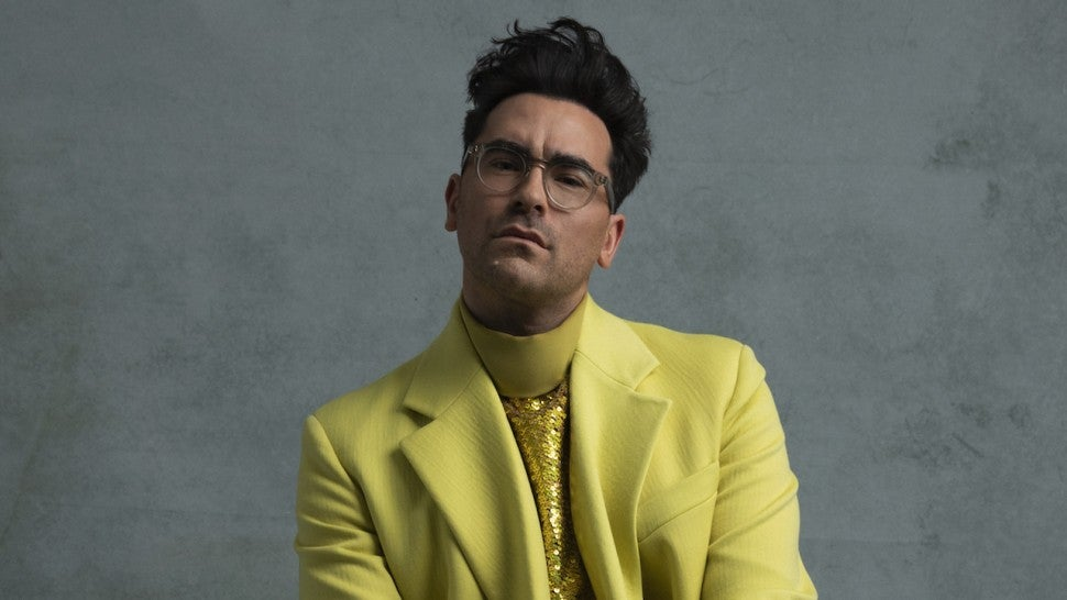 Dan Levy Rocks Chic Chartreuse Suit for 2021 Golden Globes.jpg