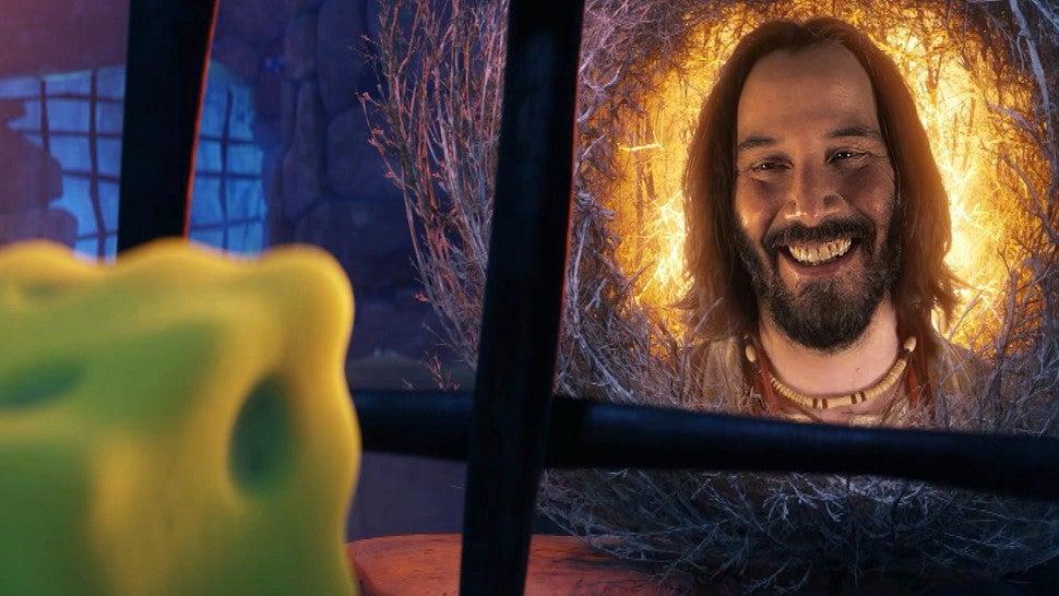 Keanu Reeves Is SpongeBob's Spirit Guide in Exclusive 'Sponge on the Run' Clip.jpg