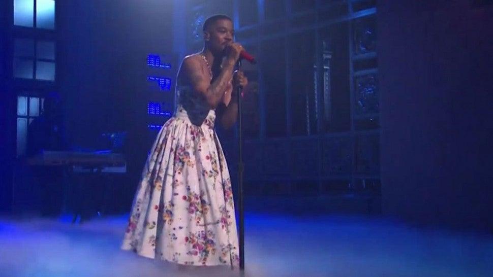 'Saturday Night Live:' Kid Cudi's Floral Dress and Chris Farley Shirt Win the Internet.jpg