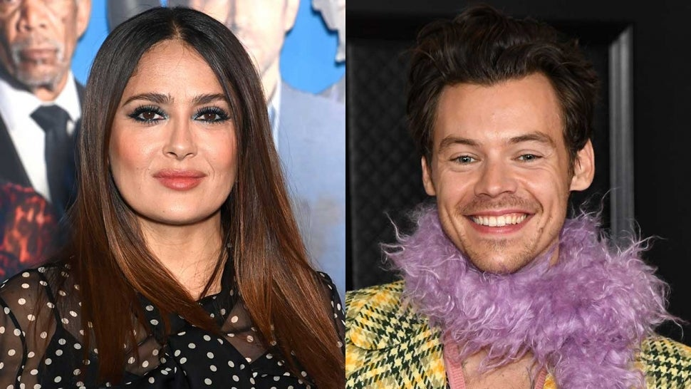 Salma Hayek's Pet Owl Coughed Up a Hairball Onto Harry Styles' Head.jpg