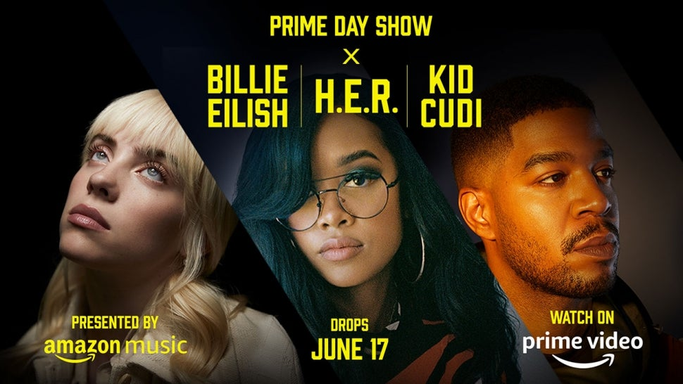 Billie Eilish, H.E.R. and Kid Cudi to Perform in Amazon Prime Day Show: How  to Watch | Entertainment Tonight