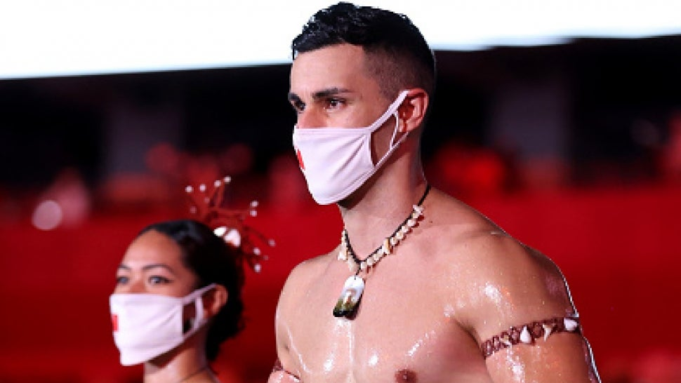 Pita Taufatofua, Tonga's Oiled-Up Flagbearer, Is Back and Bringing the Heat to the Olympics Opening Ceremony.jpg