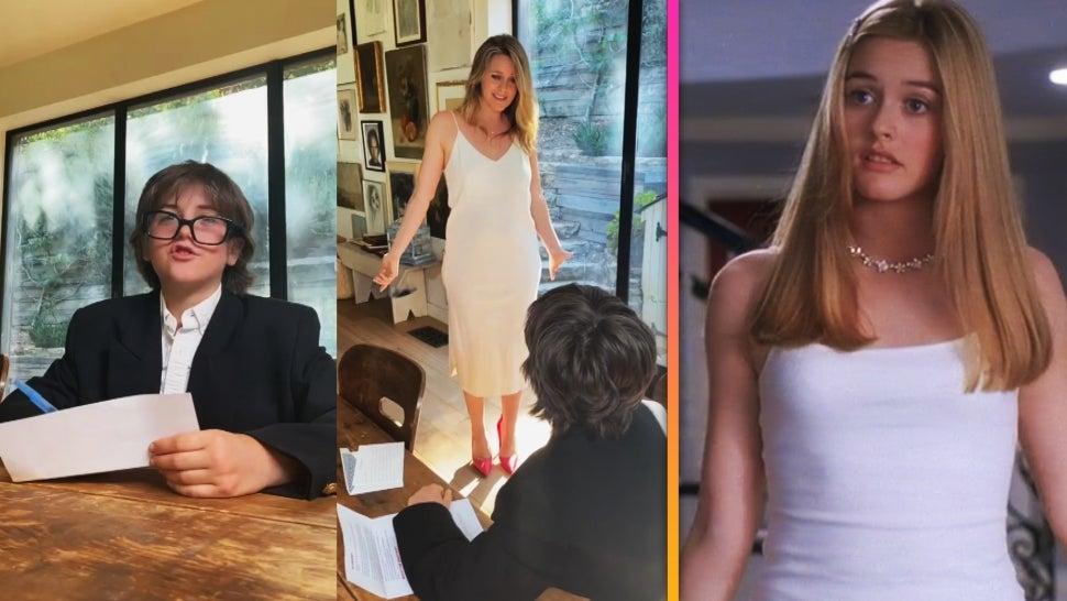 Alicia Silverstone Reenacts 'Clueless' Calvin Klein Dress Scene With 11-Year-Old Son Bear.jpg