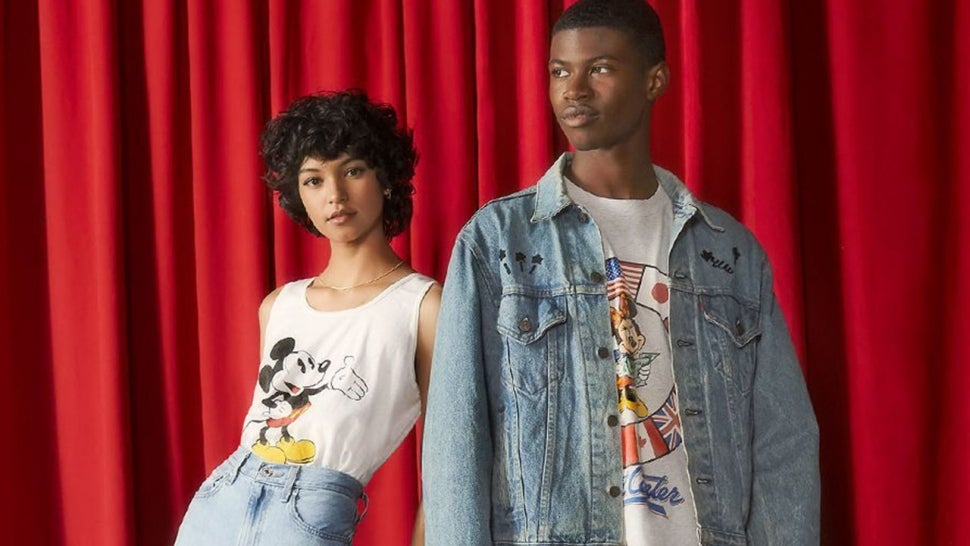 Models wearing the Mickey and Friends collection