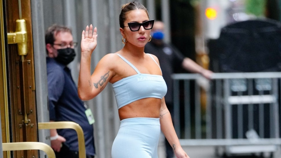 Lady Gaga's Workout Look Includes 8-Inch Platform Boots.jpg
