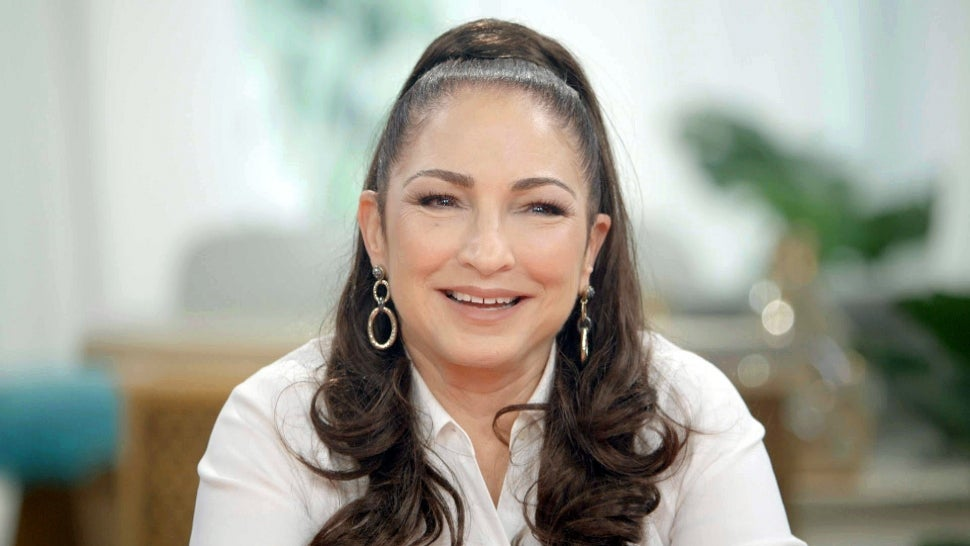 Gloria Estefan Jokes Husband Wasn't Allowed on 'Father of the Bride' Set When Kissing Andy Garcia (Exclusive).jpg