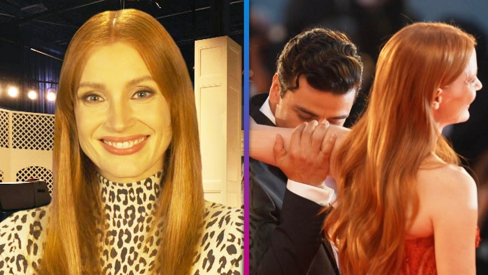 Jessica Chastain Reacts to Viral Oscar Isaac Armpit-Smelling Red Carpet Moment (Exclusive).jpg