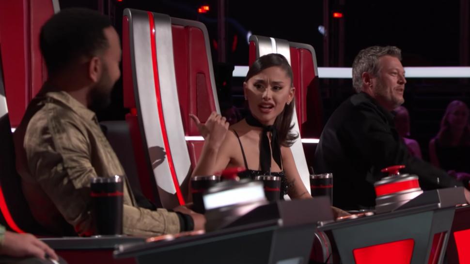 'The Voice': Ariana Grande and John Legend Walk Off When Blake Shelton and Kelly Clarkson Start Fighting.jpg