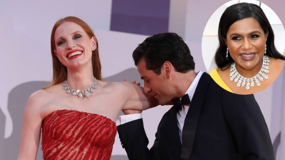 Jessica Chastain Responds to Mindy Kaling's Question About Oscar Isaac Kissing Her Arm.jpg