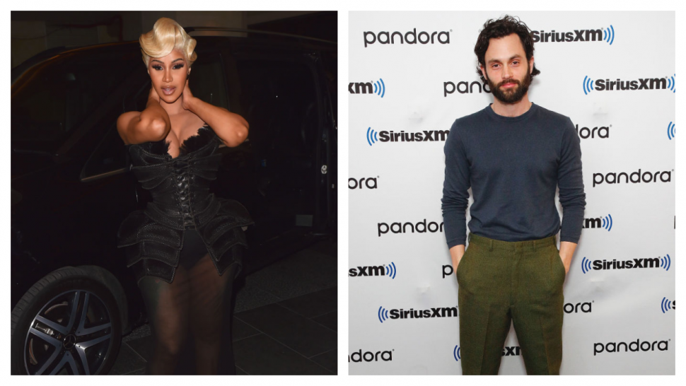 Cardi B and Penn Badgley Have Cute Fangirl Moment on Twitter.jpg
