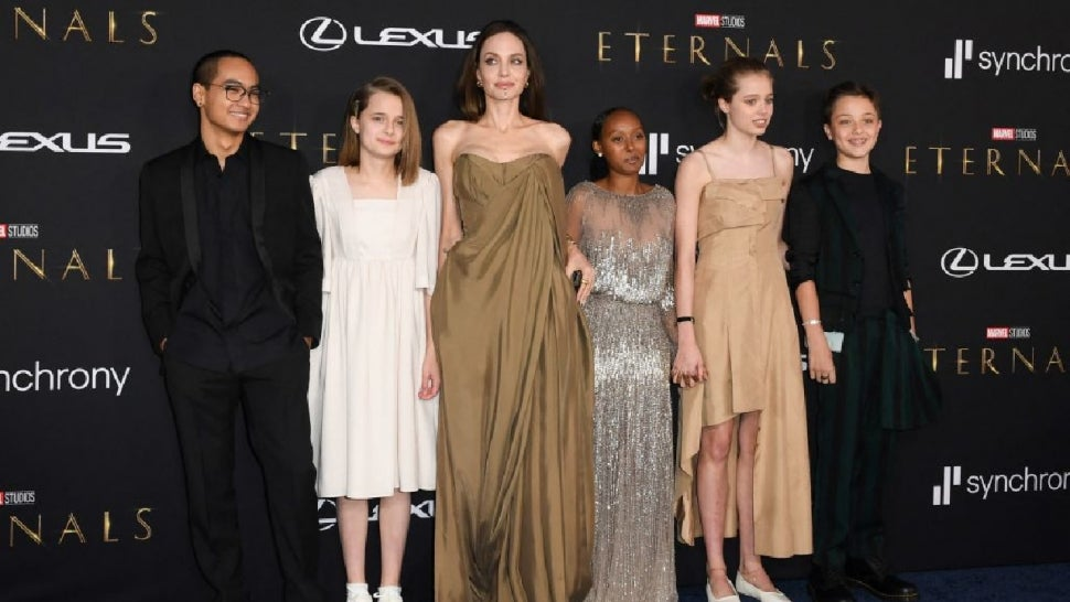 Angelina Jolie on Going All Vintage With Her Kids in Upcycled Dresses at 'Eternals' Premiere (Exclusive).jpg
