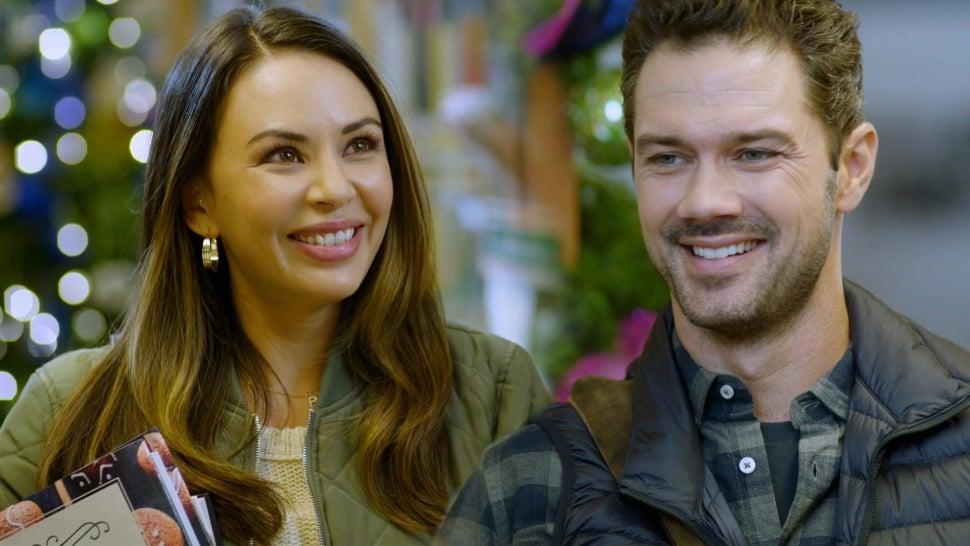Janel Parrish and Ryan Paevey Flirt It Up in Hallmark's 'Coyote Creek Christmas' (Exclusive).jpg