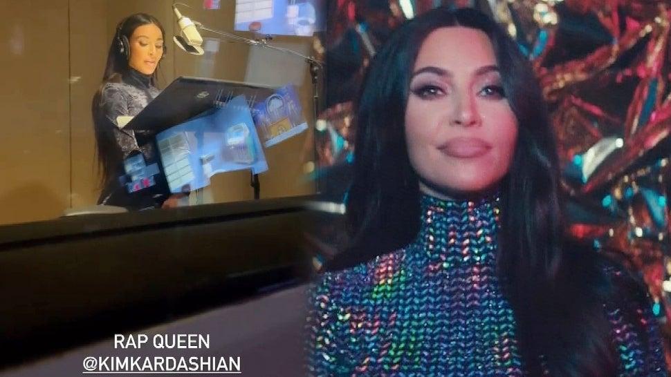 Watch Kim Kardashian Record Her 'Saturday Night Live' Rap in the Studio!.jpg
