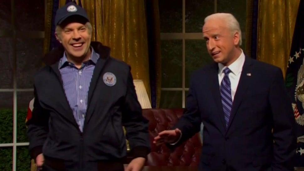 'Saturday Night Live': Jason Sudeikis' 2012 Joe Biden Returns to Give Pep Talk to Current Day Biden.jpg