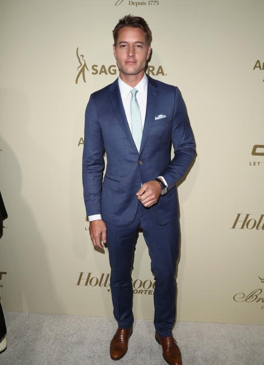 Justin Hartley at pre-emmys party