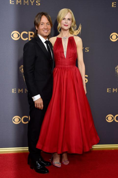 Keith Urban and Nicole Kidman at 2017 Emmys