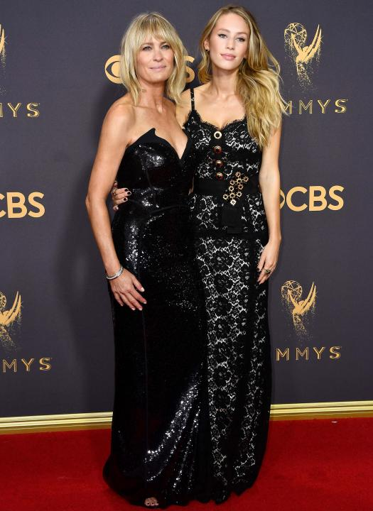 Robin Wright and Dylan Penn at 2017 Emmys