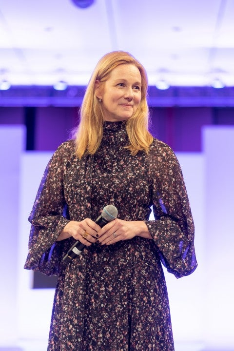 laura linney at down syndrome fundraiser