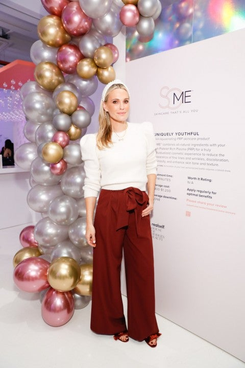 Molly Sims at some skincare event