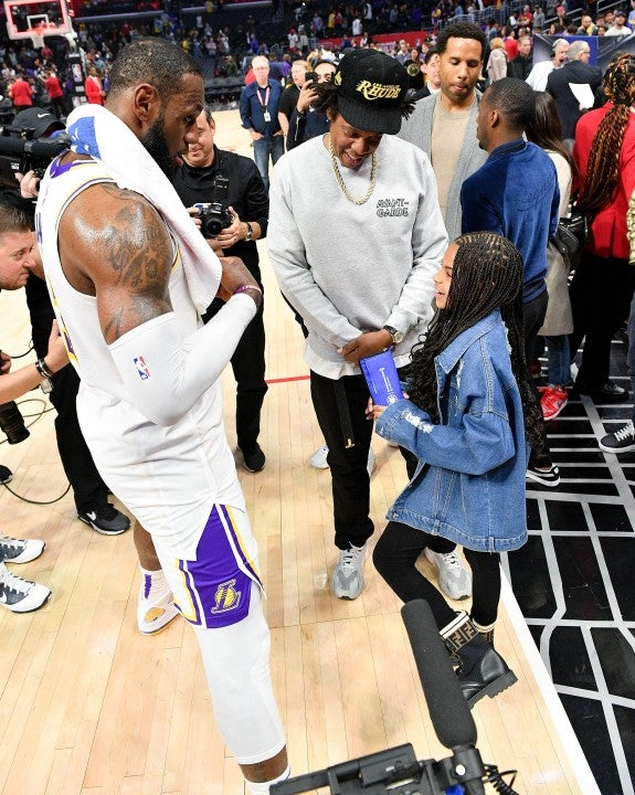 blue ivy meets lebron james
