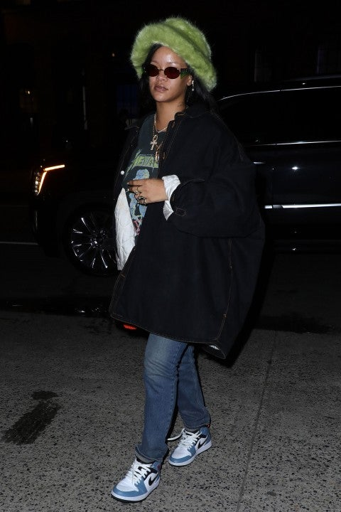 Rihanna is seen on February 8 in nyc
