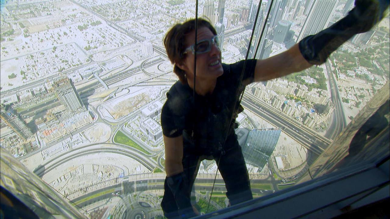 Tom Cruise Climbs Burj Khalifa In Mission Impossible Ghost