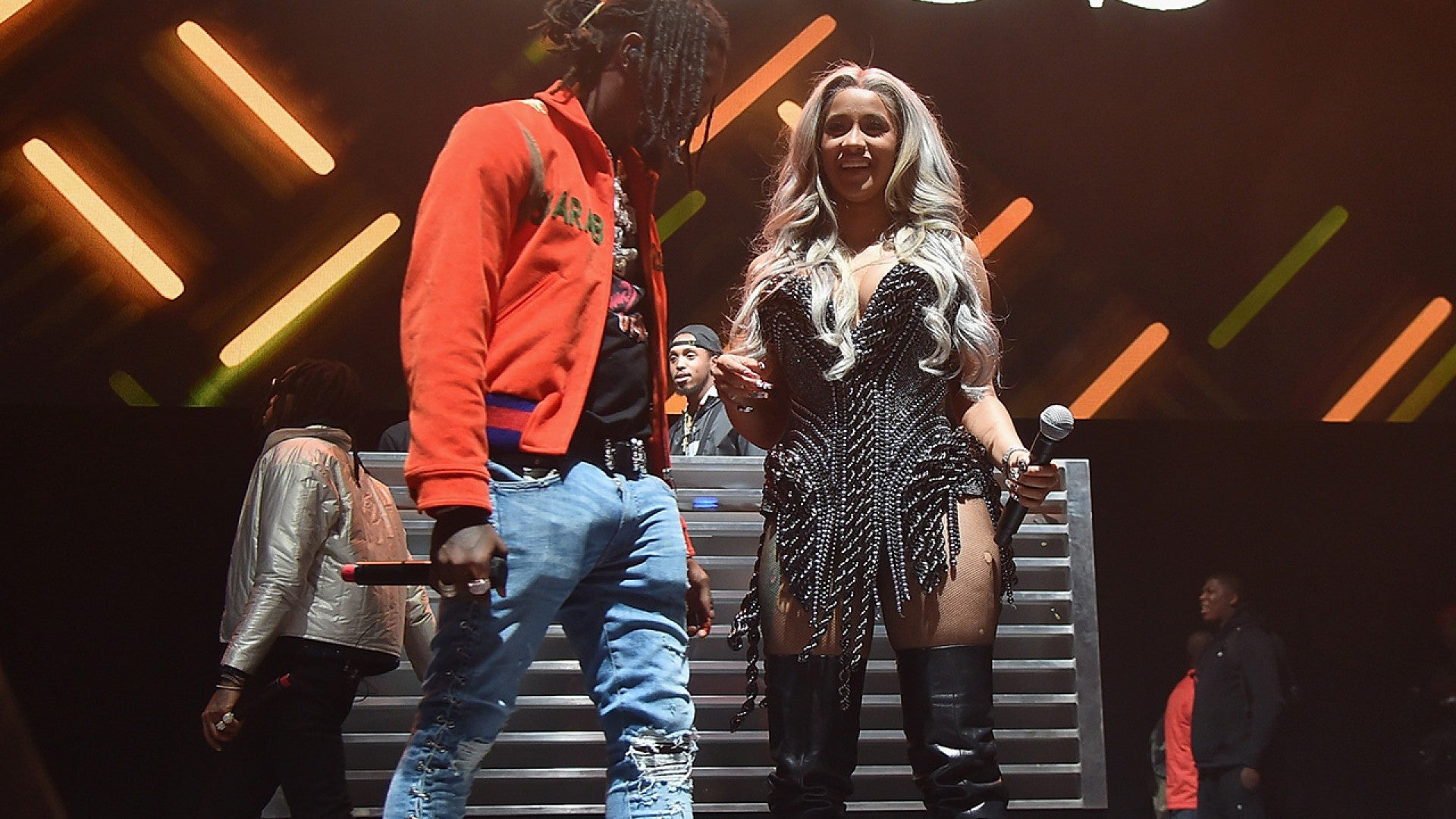 Cardi B Stuns at fset s Birthday Party Gifts Fiance With