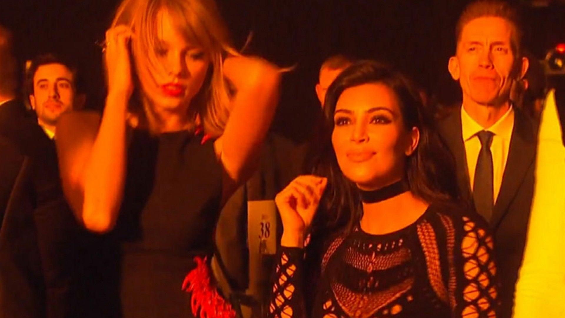 Watch Kim Kardashian And Taylor Swift Dance To Kanye West Entertainment Tonight