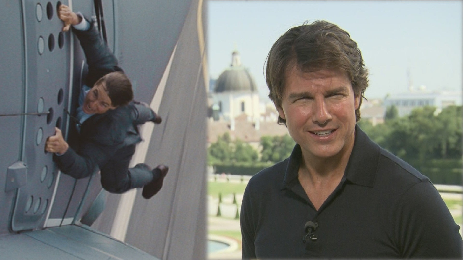 Tom Cruise Talks Holy S T Plane Stunt From Mission Impossible Rogue Nation Entertainment Tonight