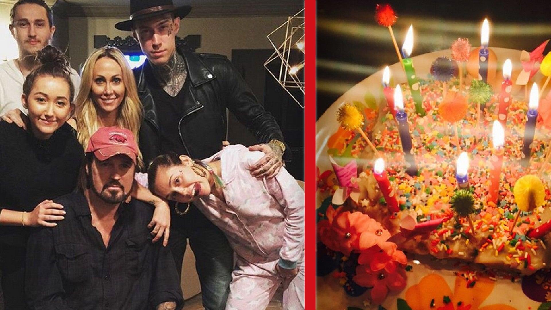Awesome Miley Cyrus Celebrates Billy Rays 54Th Birthday With A Special Funny Birthday Cards Online Alyptdamsfinfo