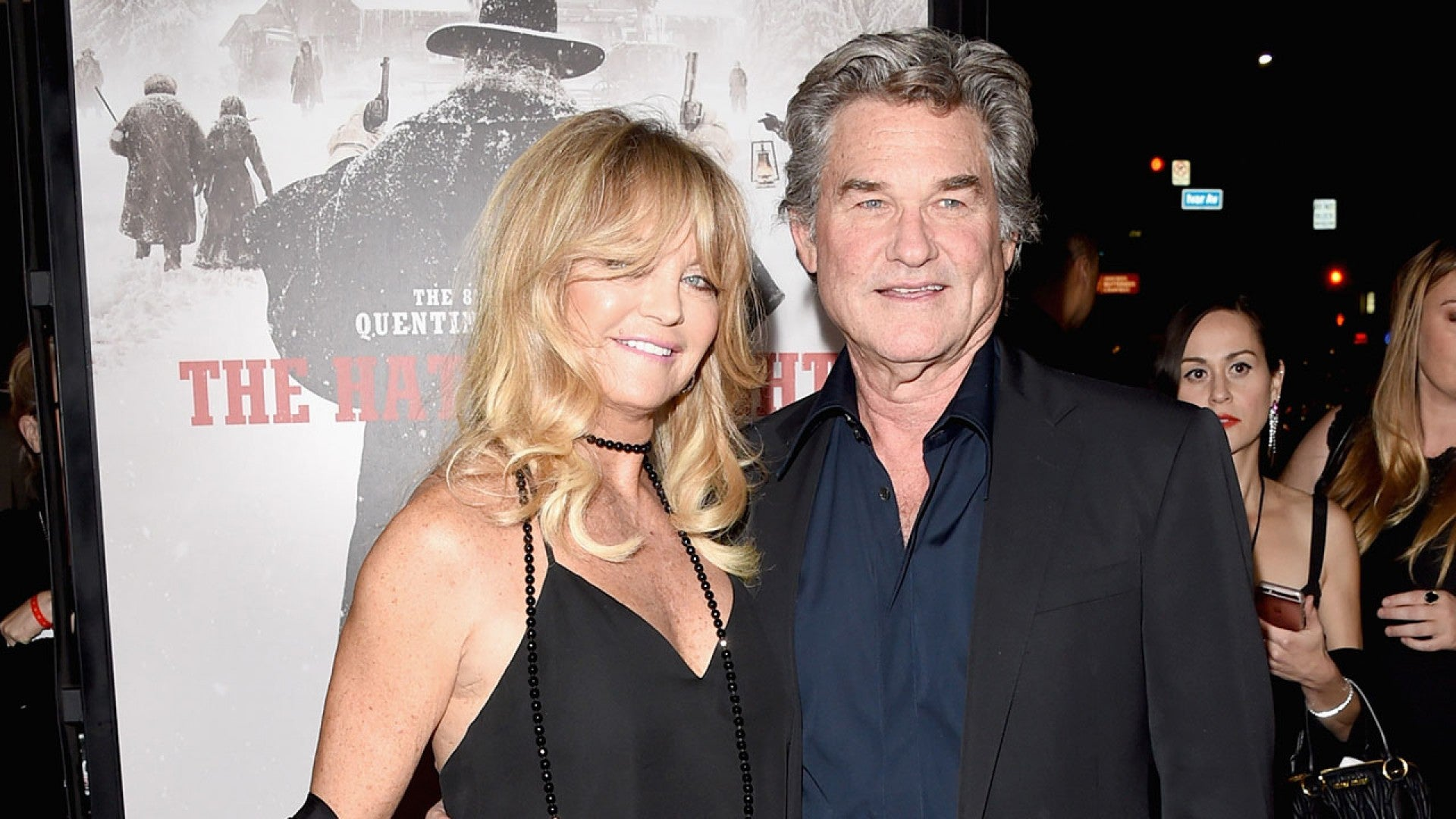 Goldie Hawn Opens Up About Living With Kurt Russell S Epic Hateful Eight Facial Hair Entertainment Tonight