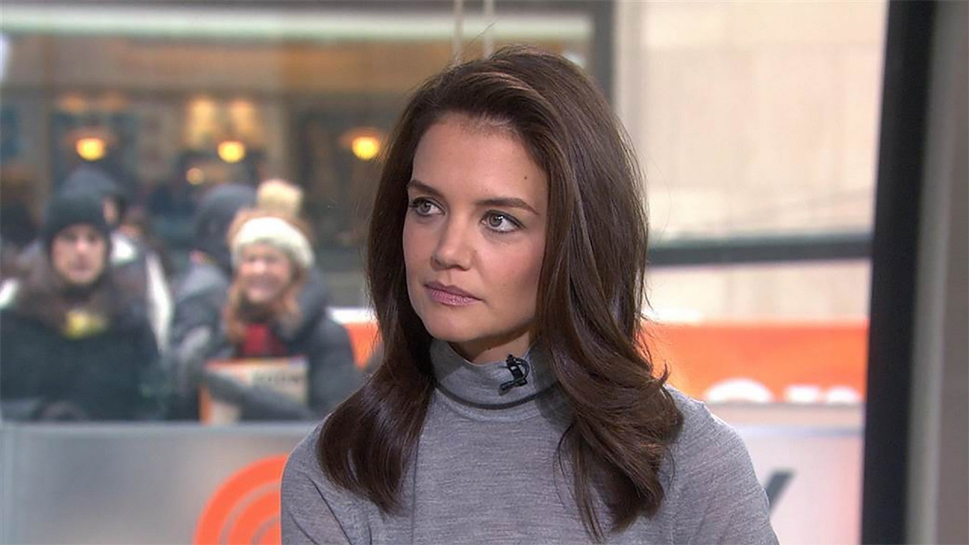 Matt Lauer Asks Katie Holmes About His Awkward Interview With Tom Cruise Entertainment Tonight