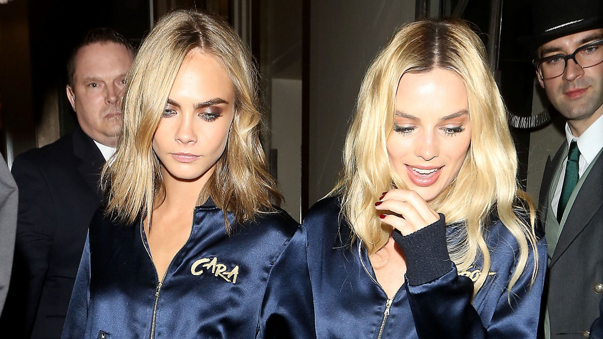 Margot Robbie And Cara Delevingne Rock Matching Track Suits To
