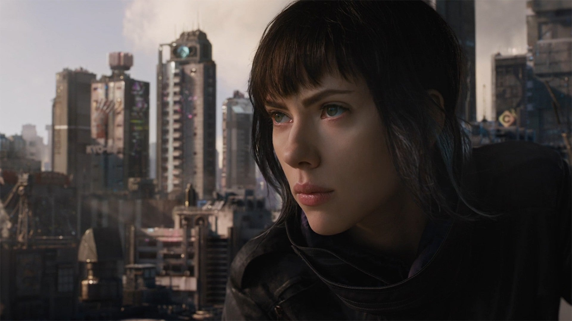 Scarlett Johansson Goes Full On Cyborg In Badass New Ghost In The Shell Trailer Watch Now Entertainment Tonight
