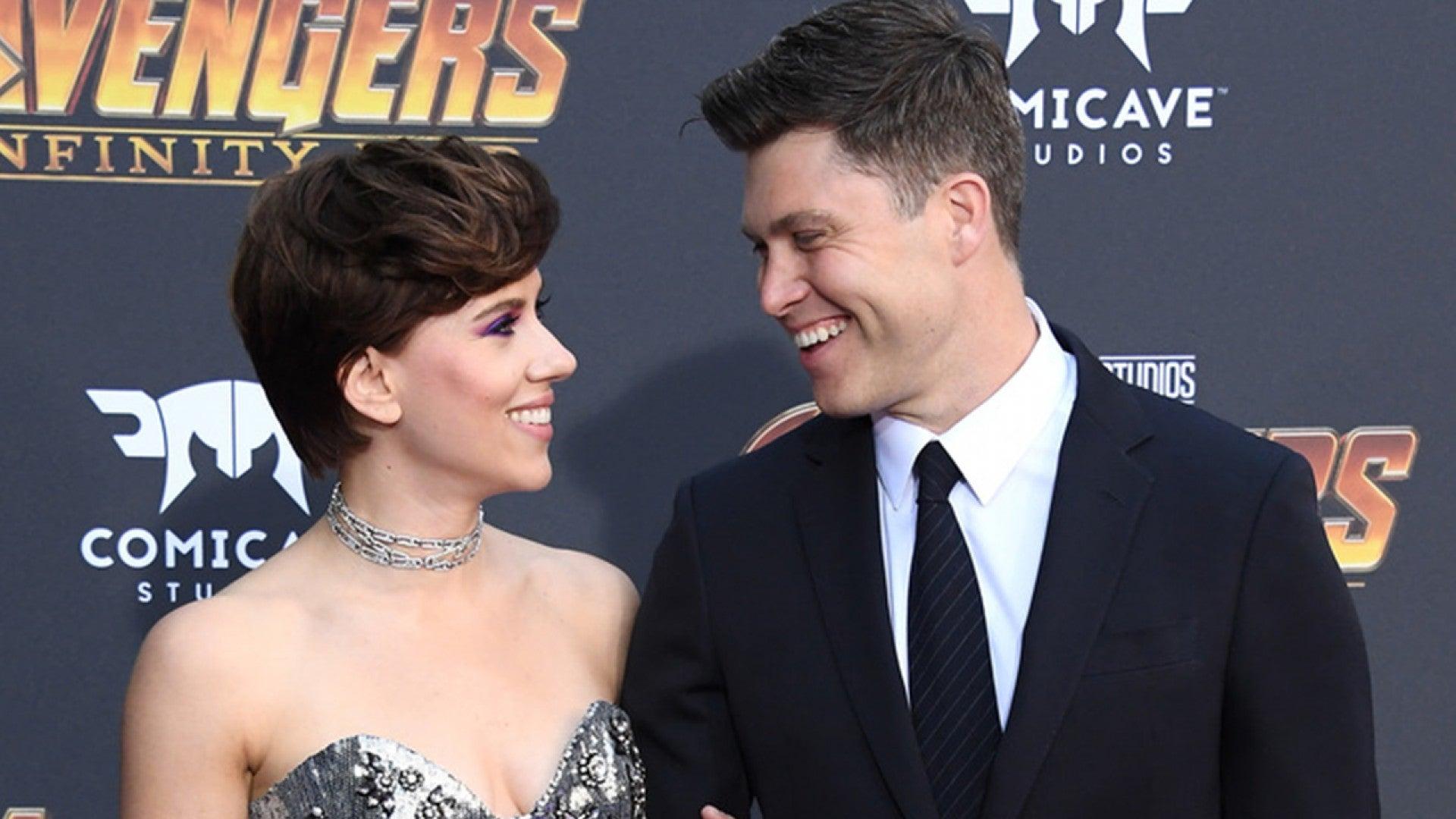 Scarlett Johansson Engaged To Snl Star Colin Jost Entertainment Tonight