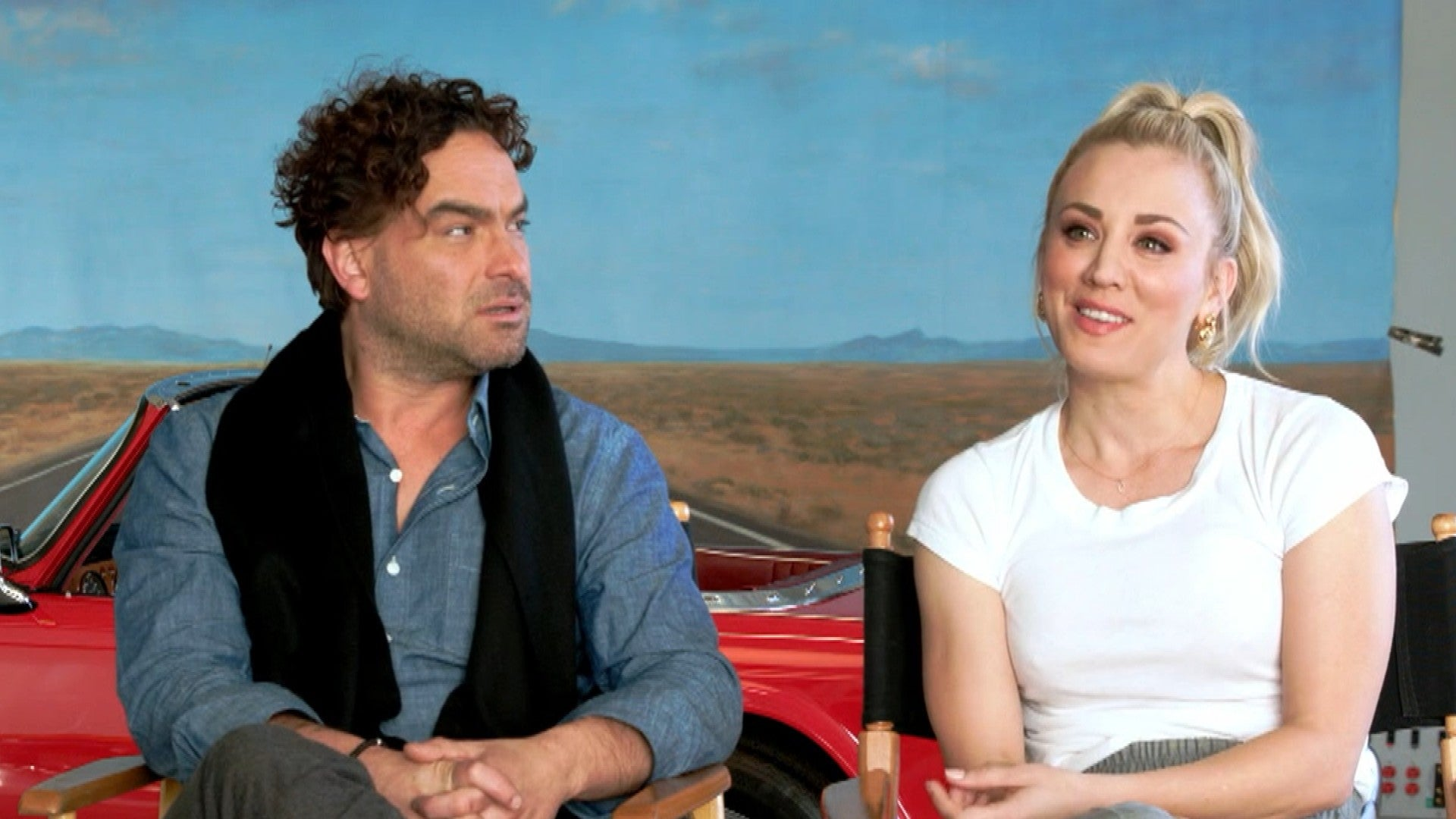 Everything Kaley Cuoco Johnny Galecki Have Said About Their Secret Romance While Filming Big Bang Theory Entertainment Tonight