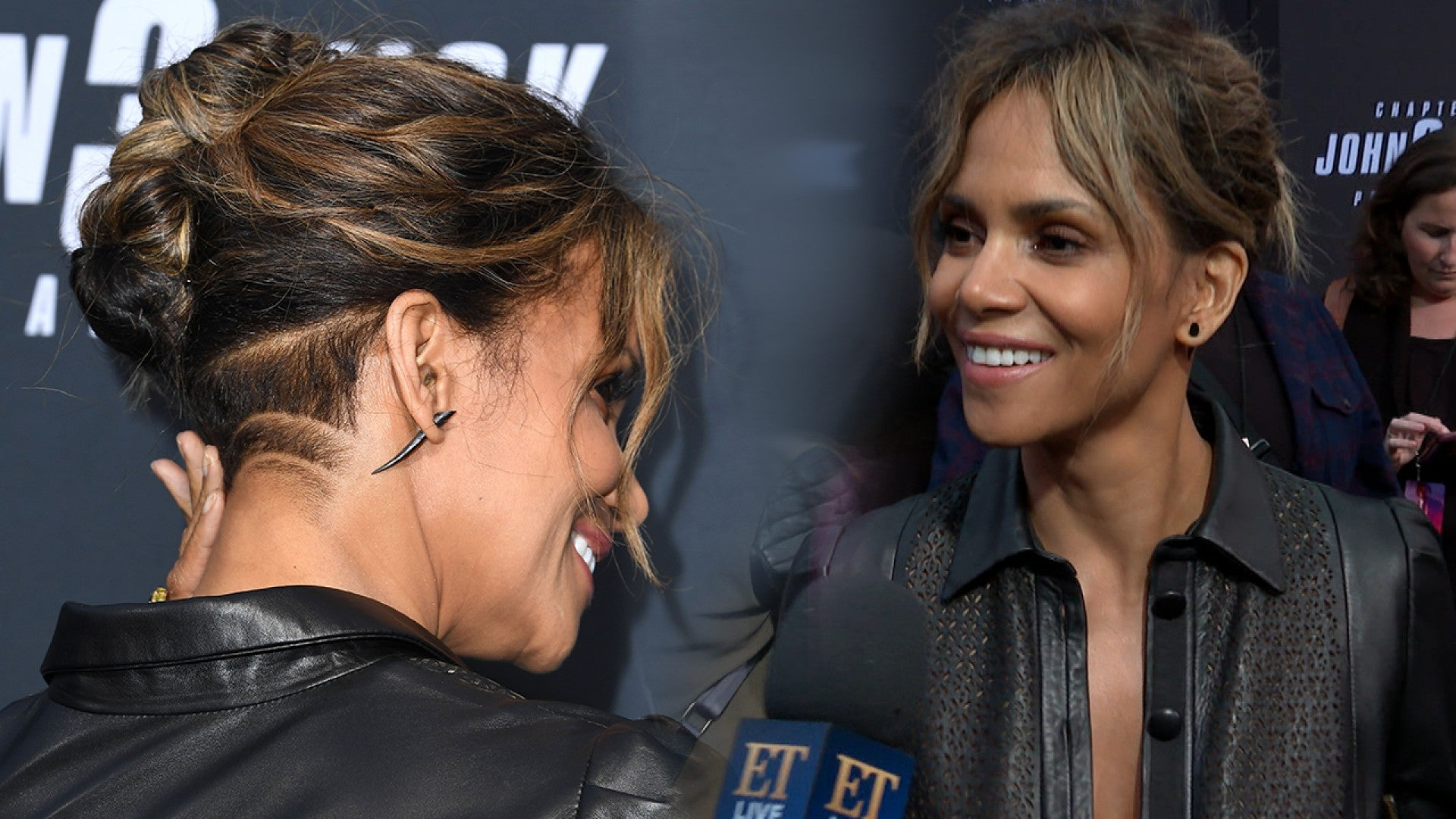 Halle Berry Debuts Buzzed Hairstyle While Talking About Being A Badass Role Model For Women Exclusive Entertainment Tonight