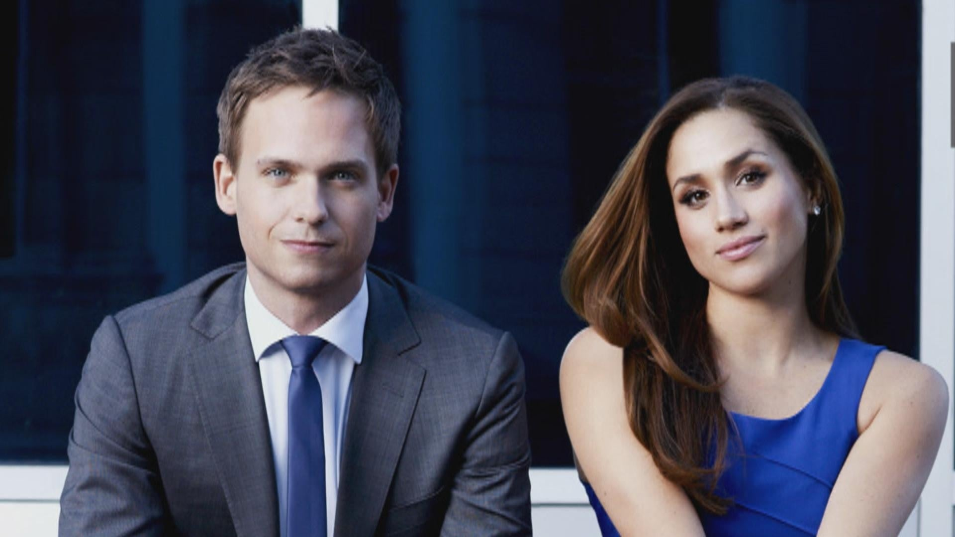 patrick j adams reveals how suits will address meghan markle s character in final season exclusive entertainment tonight how suits will handle meghan markle s character in final season exclusive