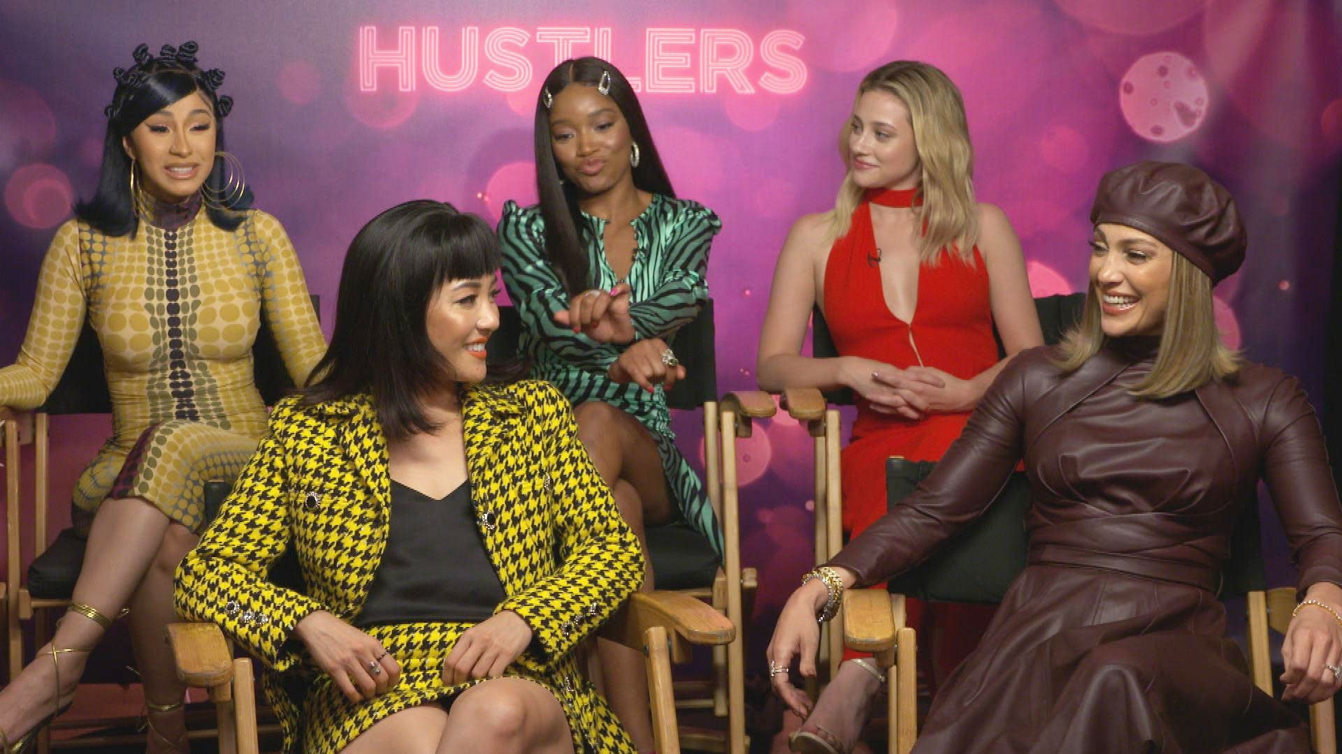 Hustlers Cast Spills On Set Secrets Popping Champagne Butt Grabs And More Exclusive Entertainment Tonight