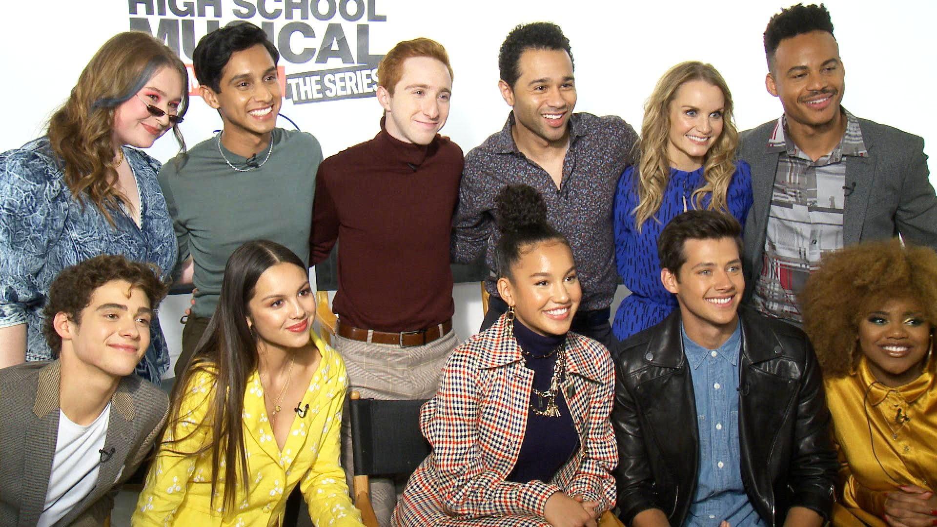 Hsmtmts Joshua Bassett And Olivia Rodrigo On Favorite Ricky Nini Scene In Season 1 Finale Exclusive Entertainment Tonight